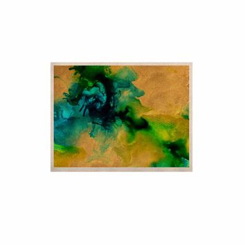 "Claire Day ""Glamorous"" Gold Green Abstract Painting KESS Naturals Canvas (Frame not Included)"