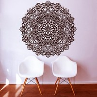 Wall Decals Mandala Indian Pattern Yoga Oum Om Sign Decal Vinyl Sticker Home Decor Art Murals Bedroom Studio Window MN267