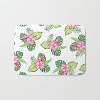 tropical Bath Mat by Sylvia Cook Photography