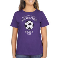 TCU Horned Frogs Ladies Sport Club Classic Fit T-Shirt - Purple