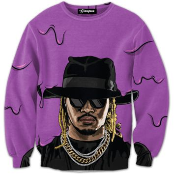 Purple Drank by Future Crewneck