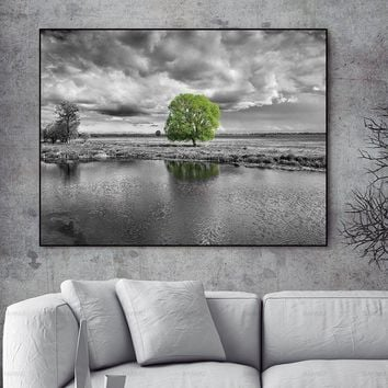 Wall Picture home decor Canvas painting Wall art print landscape flower canvas painting tree home decor Pictures print no frame