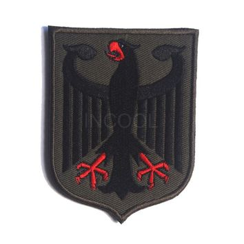 Embroidery Patch Germany Eagle Shield Morale Patch Tactical Emblem Badges Appliques Embroidered Patches For Backpack Jackets