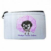 Hedgie Loves Tutus Zipper Coin Purse