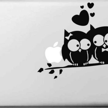 In Love Owl Bird Sticker for apple macbook Decal air 11 12 13 pro 13 15 17 retina Pegatinas Laptop Wall Car Stickers Vinyl Skin