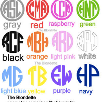 Monogram. Initial. Decal. Personalize.