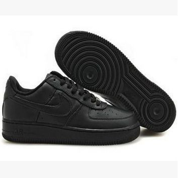"""Nike ""Fashion Men's Women Shoes Black Air force Leisure sports shoes"