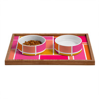 Caroline Okun Sunset Grid Pet Bowl and Tray