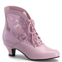Pleaser Female 2 Inch Heel Lace Victorian Ankle Boot DAME05