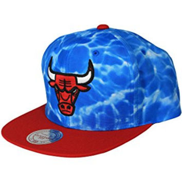 Mitchell And Ness Chicago Bulls Surf Snapback Medium Blue One Size