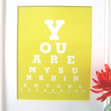 Children Decor You are My Sunshine yellow by Tilependantjewelry