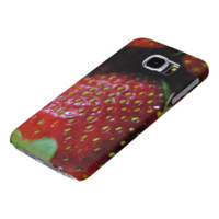 Strawberry Close Up Samsung Galaxy S6 Cases