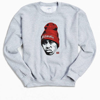 Nas Illmatic Fleece Crew Neck Sweatshirt - Urban Outfitters
