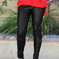 The Sequin Leggings - Black