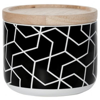 General Eclectic canister <br/> small black spira-hex pattern