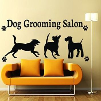 Wall Decals Dog Grooming Salon Decal Vinyl Sticker Pet Shop Bedroom Hall Home Decor Interior Design Art Mural MN730