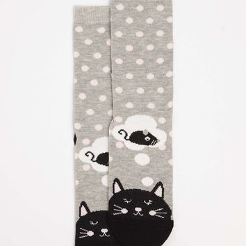 Grey Cat Toe Socks | Dorothyperkins