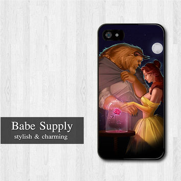 Romantic Beauty And The Beast iPhone 5 case, Disney iPhone 5 hard case, cover skin case for iphone 5 (Hard / Rubber case for choice)