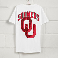 University of Oklahoma Bling Short Sleeve Campus Pocket Tee - PINK - Victoria's Secret