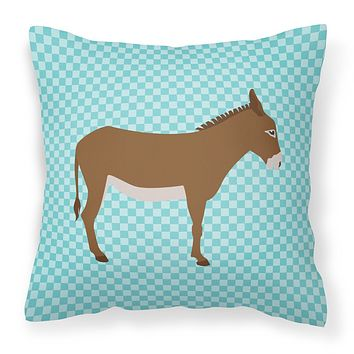 Cotentin Donkey Blue Check Fabric Decorative Pillow BB8023PW1818