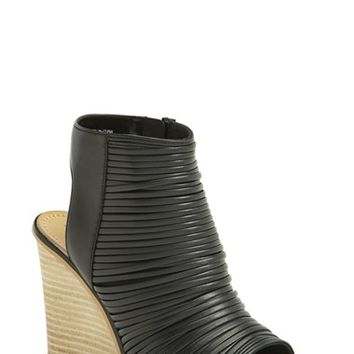 Women's Hinge 'Turner' Open Toe Wedge Bootie,
