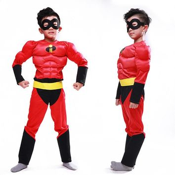 Muscle the incredibles costume clothing halloween costumes for kids boys Cosplay children girls avengers infinity war Carnival