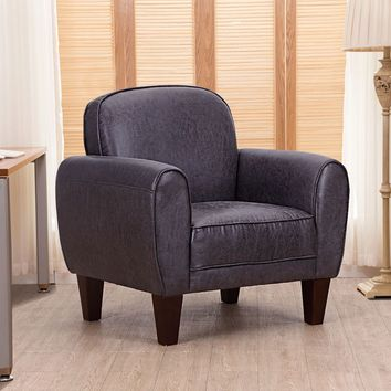 Giantex Single Sofa Living Room Leisure Arm Chair Accent Upholstered Modern Chairs High Quality Home Office Furniture HW55497BK