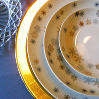 Vintage Dinnerware Glassware Dinner Party in A by GSArcheologist