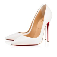 Cl Christian Louboutin So Kate Latte Leather 13w Pumps 3160759wha8 - Best Online Sale