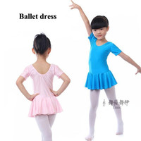 10pcs/lot Girls dance dress for performance children short sleeve dancewear summer ballet dress Leotard clothing #Y39