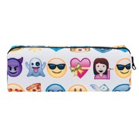 Emoji White Travel Cosmetic Makeup Bag