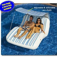 Swimline Luxury Cabana Inflatable Pool Lounger