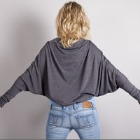 Batwing Shrug Bolero in GreyGray / Long Sleeve by MoonHalo