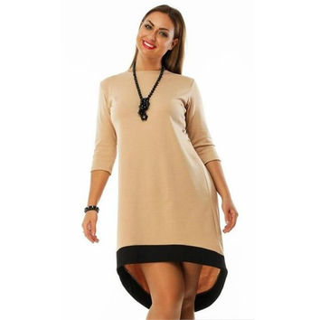 Plus Size 5XL Women Autumn Dress