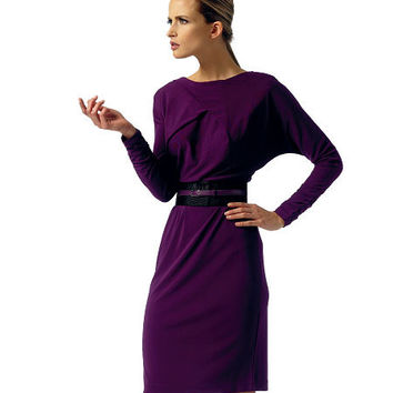 Cocktail, Day Career Office Dress with Dolman Sleeves Vogue 1338 ANNE KLEIN American Designer Sewing Pattern Bust 31.5-32.5-34-36-38 UNCUT