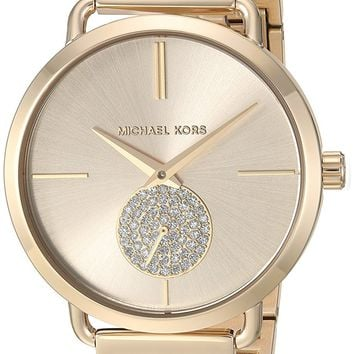 Michael Kors Watches Portia Stainless-Steel Two-Hand Sub-Eye Watch