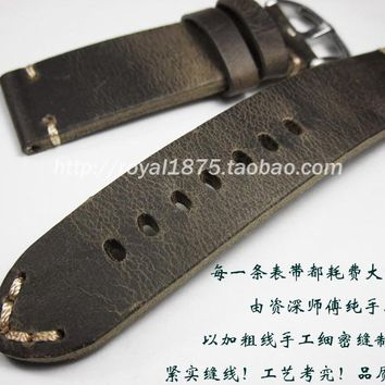 18 19 21 22mm Italy Vintage Leather Watchbands for Hamilton Mido Longines Tissot Luminox Quick Release Watch Band Wrist Straps