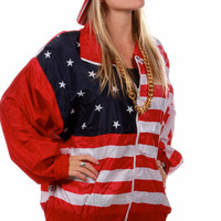 The Merica American Flag Windbreaker