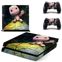 Little big planet design skin for ps4 decal sticker console & controllers