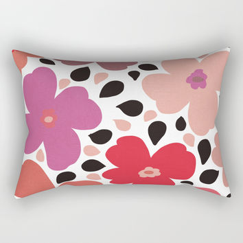 FLoral vibes Rectangular Pillow by vivigonzalezart