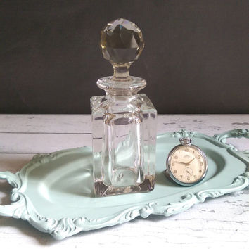 Crystal Perfume Bottle/ Vintage Perfume Bottle/ Antique Perfume Decanter/ Perfume Flacon/ Antique Perfume Bottle/ Glass Perfume bottle