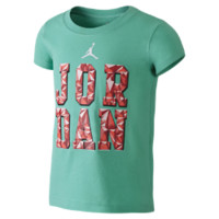Jordan 7s In Effect Preschool Girls' T-Shirt, by Nike Size 5 (Green)