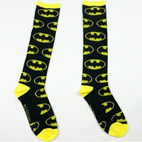 Black Men Socks Winter Autumn Cotton Women & Mens Batman Sock Stockings Sport Sock Male Football Meias Soc (Color: Yellow)