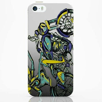 Lord Ganesh On Bullet Classic 500 iPhone 5 / 5S Case