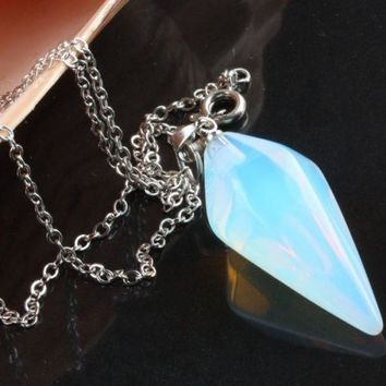 Faceted Crystal Opal for Cleansing