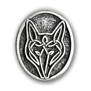Celtic Wolf Pewter Pin