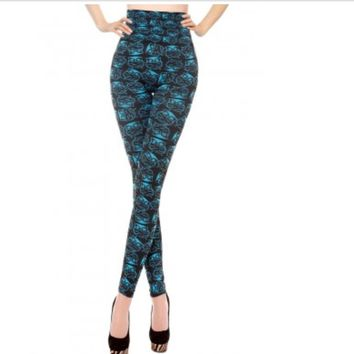 Owl Print High Wasted Leggings