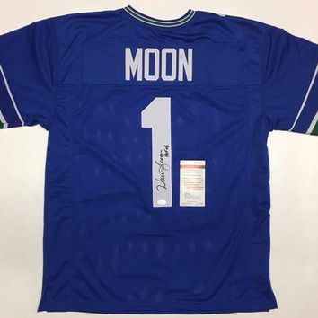 LMFON Warren Moon Signed Autographed Seattle Seahawks Football Jersey (JSA COA)