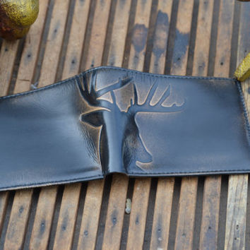 DEER Embossed Leather Bifold Wallet