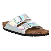 Birkenstock Arizona Two Strap Silver Mirror Exclusive - Sandals